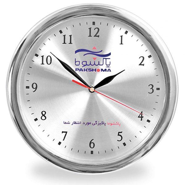 ساعت دیواری نقره ای110